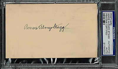 Amos Alonzo Stagg  Signed Postcard  Autographed  Psa/dna 81744337