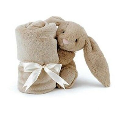 Jellycat Beige Bunny Soother Baby Toy Comforter Security Blanket Jelly Cat Safe