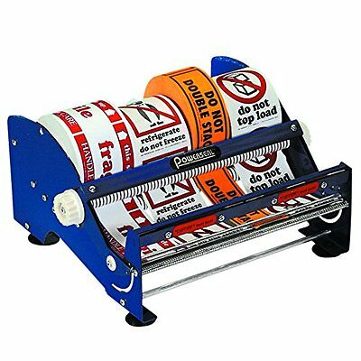 Partners Brand Tape Logic Table Top Label Dispenser 12in Blue, New