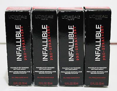 4x L'OREAL Infallible Pro-Spray Makeup Extender Setting Spray 1.0 oz / 30 ml