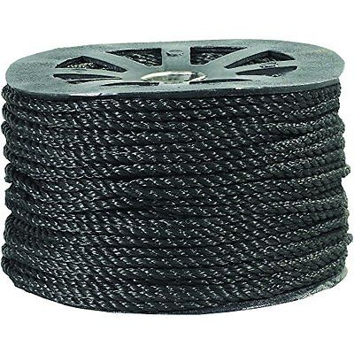 Twisted Polypropylene Rope 3/8in 2,450lb Black 600ft, New