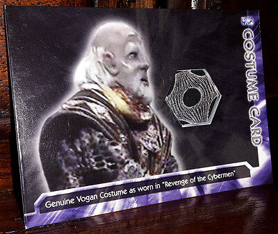 """Doctor Who Trilogy Genuine """"Vogan"""" Costume Trading Card / WHOT-C4 Strictly Ink"""