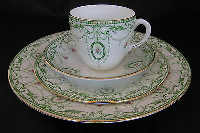 Shelley c1910 Late Foley chain and pendant cake plate and tea cup trio in great