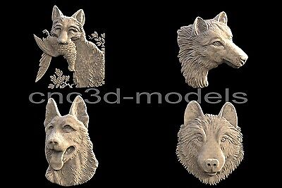 3D STL Models for CNC Router Engraver Carving Artcam Aspire Collection Dog 210