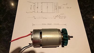 Electric Motor 14.4 Volts Small but powerfull