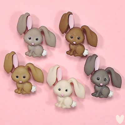 DRESS IT UP Buttons Hop Hop 8995  - Easter Embellishments Rabbits Bunnies