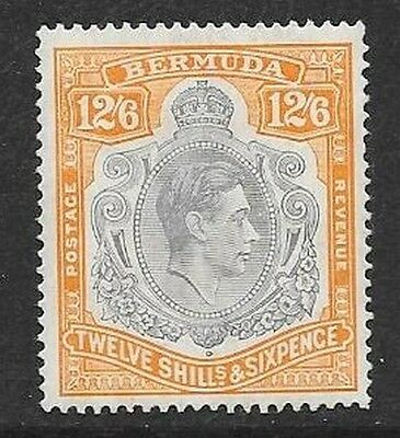 Bermuda 1939 July 12s6d  grey & brownish-orange Lighty Mounted Mint  SG 120a