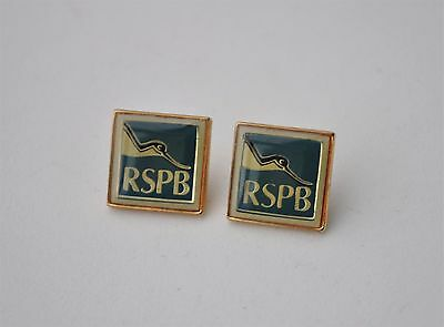 Small RSPB Pin badges x 2 Royal Society Protection of birds