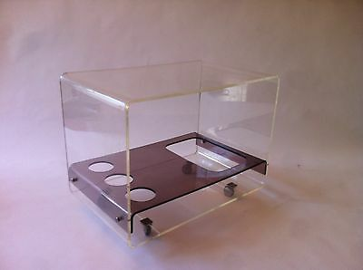 Vintage Spanish Mid-Century  Lucite 60s Drinks Trolley Bar Cart Cocktail cabin