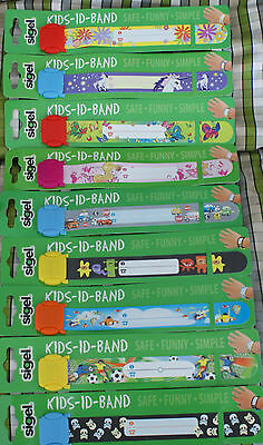Kids segel ID wrist bands Re useable Party 6 Packs Children Infant Birthday