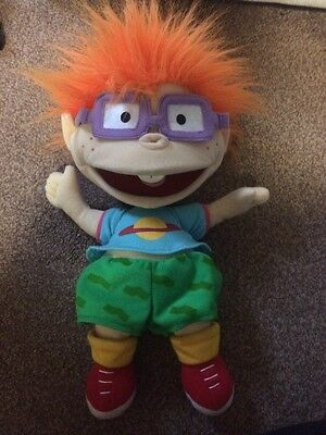 "Nickelodeon Retro 90s The Rugrats Chuckie Hand Puppet Doll  14"" Tommy 1998"
