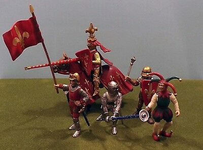 Five Mounted & Standing Schleich Knights & Medieval Figures Lot #2