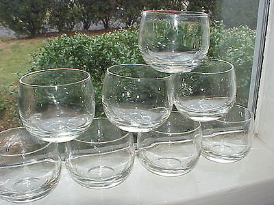 Set of 8 Small Round Amuse Bouche Clear Glass Dessert/Sorbet/Appetizer/Cordial