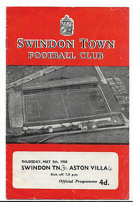 Swindon Town v Aston Villa Testimonial George Hudson Harry Cousins 5 May 1960