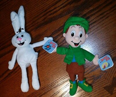General Mills Cereal Breakfast Pals Lucky Charms Trix Rabbit Plush Beanie Lot 2