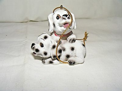 Two Dalmation Puppies Christmas Ornament