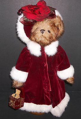 "Musical Bearington Bear 15"" Jointed, 2005 Ed. Orig. Clothes, Stand Included"