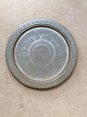 Beautiful Large Vintage Middle Eastern Copper Tray (Diameter -57 cm)