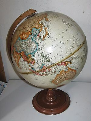 Vintage Replogle 12 Inch Globe World Classic Series, w/ USSR, raised, wood base