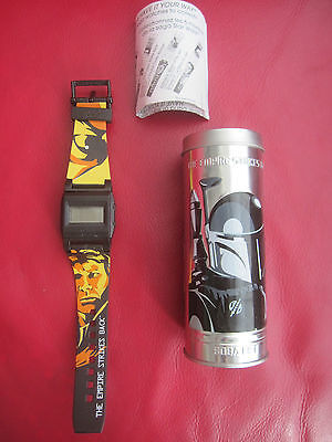 Star Wars Watch 2005 Han Solo and Boba Fett Empire Strikes Back in TIN