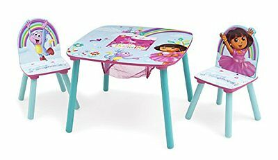 Delta Children Table and Chair Set with Storage Nick Jr. Dora The Explorer
