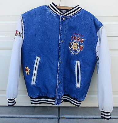 Winnie The Pooh 1966 Denim & Corduroy Embroidered Jacket, Size Small, Disneyland