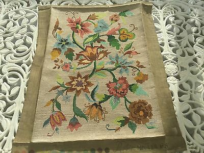 "REDUCED Completed Tapestry Cushion Front 22""x15"" Finished Needlepoint"