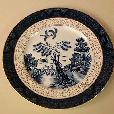 "EC Ironstone Ware Blue Willow w/Gold 5.5"" Saucer Occupied Japan"