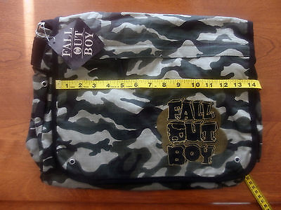 Fall Out Boy Camo Messenger Bag, Brand New, Never Used, NOS, Licensed