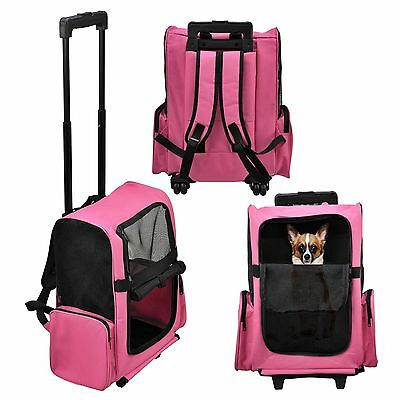 [pro.tec] Dog trolley pink Carry bag Carrying bag Backpack Dog Cat