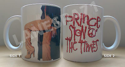 "PRINCE "" SIGN O THE TIMES "" ALBUM ICONIC IMAGE White Coffee Mug **NEW**"
