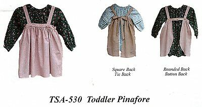 Civil War Style 19th CENTURY TODDLER PINAFORE Pattern Timeless Stitches TSA-530