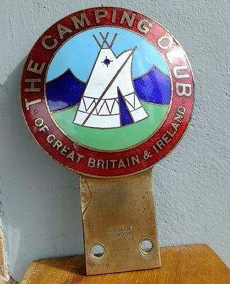 Vintage Enamel Car Badge - The Camping Club of Great Britain & Ireland