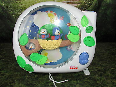 FISHER-PRICE Baby Crib Soother Music Toy FLUTTERBYE Dream Birds PROJECTOR System