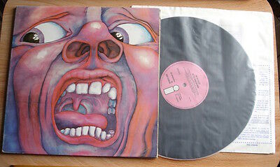 IN THE COURT OF THE CRIMSON KING LP 1969 UK ISLAND PiNK ILPS9111 A2B4 EJ DAY SLV