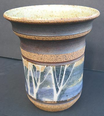 Canadian Studio Pottery Vase Peter Price Birch Trees Master Potter Stoneware