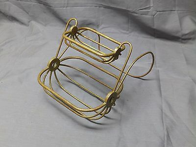 Antique Brass Wire Basket ClawFoot Tub Rim Soap Dish Sponge Holder Vtg 77-17E