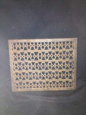 """Early 15 1/4"""" Cast Iron Vent Cover Pediment"""