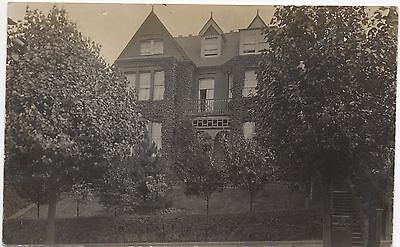 Real Photo Postcard Large Ivy Covered House 'Mountfield' Unknown Location Where?