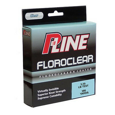P-LINE FLOROCLEAR CLEAR FISHING LINE 260-300 YARDS select lb test