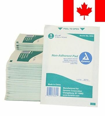 First Voice TS-3434-100 Mesh Non-Adherent Pads, 3-Inch X 4-Inch, Sterile (Pac...