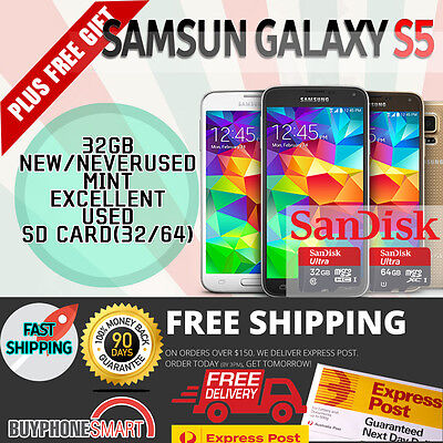 New & Used Genuine Samsung Galaxy S5 S6 4G Lte 32Gb Unlocked Free Express Post