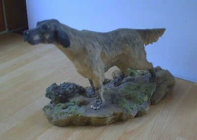 BORDER FINE ARTS ENGLISH SETTER, Rare. Anne Wall 1978 Shabby Chic vintage retro