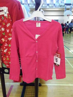Children Girl Hot Pink Button Cardigan Sweater Size 4 SHIPS FROM CANADA