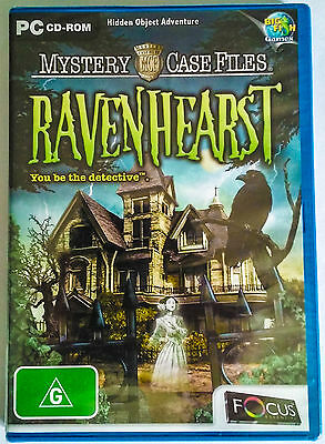 RAVENHEARST Mystery Case Files HIDDEN OBJECTS game PC CD-ROM Big Fish NEW SEALED