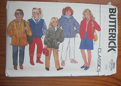 VINTAGE BUTTERICK UNCUT Sewing Pattern Girl's Jacket SIZE 12-14 6804 5 STYLES