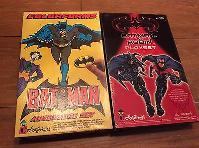 Lot Of (2) Colorforms Batman Play Sets Complete One Factory Sealed