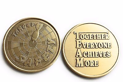 Target Safety TEAM Medallion Together Everyone Achieves More Challenge Coin