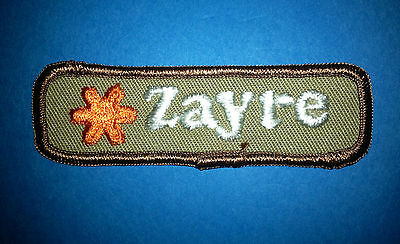 Vintage 1970's Zayre Department Store Employee Uniform Work Shirt Patch Crest