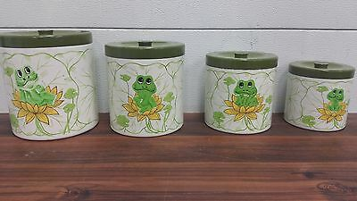 Vintage Sears Neil the Frog Canister Set of 4 Japan Retro